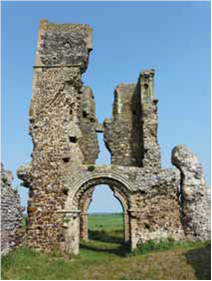 The ruins at Bawsey are the highlight of a walk that takes in wildlife and picturesque views.