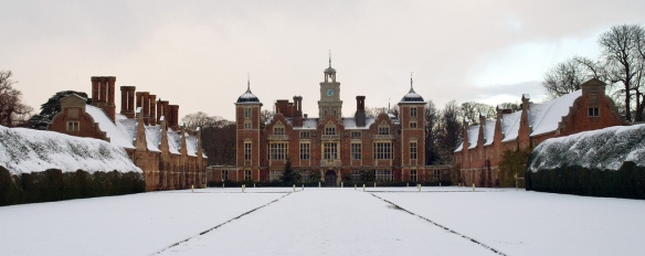 The grounds of Blickling Hall, near Aylsham, covered in snow. Credit: Gerry Balding