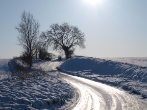 A beautiful wintry scene near Tharston in south Norfolk, from a previous year. But pretty snow scenes mean difficult driving conditions.