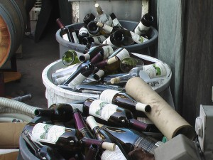 You may not have this many to shift but don't forget empty bottles can be taken to your local recycling centre. Credit: Vaughn Hannon