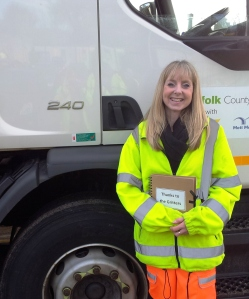 Gill Stonestreet, from Briston, now in her fourth year as a Norfolk gritter.