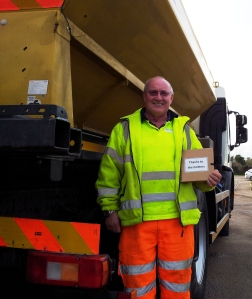 Peter Willimott from Holt, who has been with the highways team for 31 years.